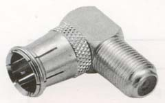 right angle female to male push-on f connector