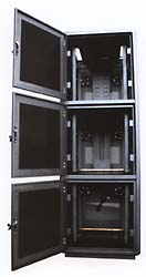 3 three module co-location server enclosure cabinet