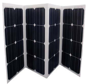 138W Solar Panel  Folding Foldable Non No Glass Lightweight Impact Resistance Low Glare