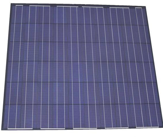 258W Solar Panel Non No Glass Lightweight Impact Resistance Low Glare