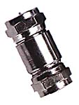 inline splice f connectors, double f male