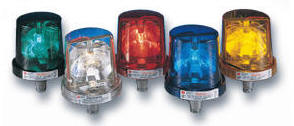 225 Electraray® Rotating Warning Light federal signal signaling rotating strobe warning light designed for industrial uses adaptable for a multitude of indoor and outdoor applications Federal Signal's Electraray rotating light is an inexpensive warning light for calling attention to emergency situations or process status changes. Amber blue clear green red dome strobe colors.