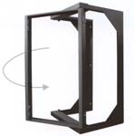 equipment rack open frame swing out design