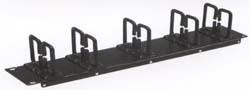 rack mount horizontal cable manager double ring 19 inch