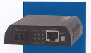 Model number 065-1174, 10/100BaseT/TX to 100BaseFX Converter, LC Multimode