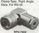n connector right angle rg59