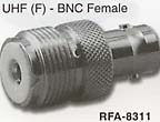 uhf female to bnc female connector