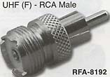 uhf female to rca male connector