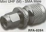 mini uhf male to sma male connector