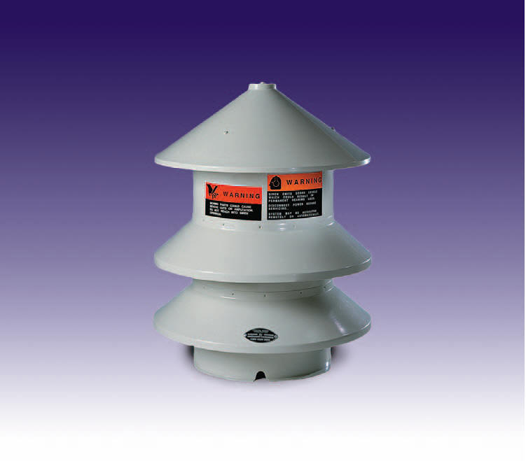 Federal Signal Model 2-120 & 2-240 outdoor warning siren is an omni-directional siren can serve as an outdoor manufacturing plant factory refinery facility wide warning system.