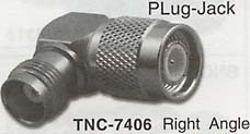 tnc right angle plug-jack connector